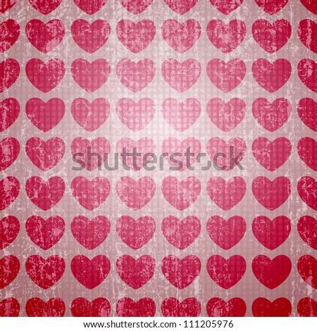 valentine seamless hearts pattern - stock photo
