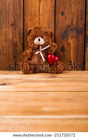 Valentine Teddy Bear - stock photo