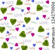 valentine wrapping paper - stock photo