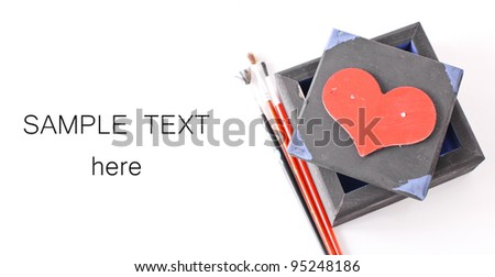 Valentines Arts and Crafts - stock photo