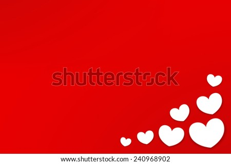 Valentines Day background heart sticky