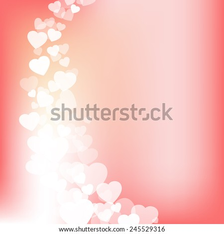 Valentines day background with hearts - stock photo