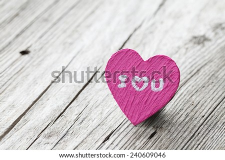 Valentines Day background with hearts,I love you - stock photo