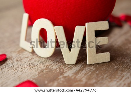 Valentines Day background with hearts.love concept - stock photo