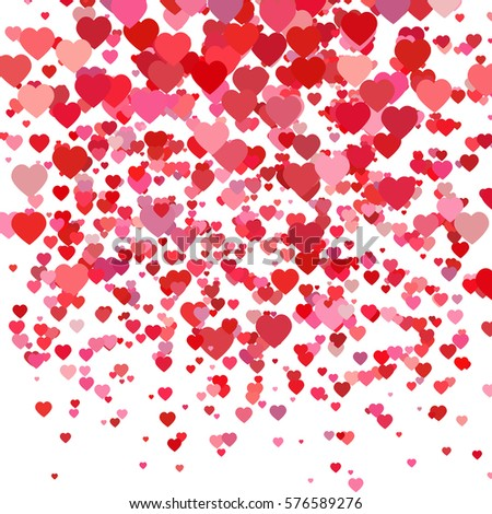 Valentines Day Background Scattered Low Poly Stock Illustration ...