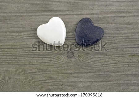 Valentines Day background with two hearts. - stock photo