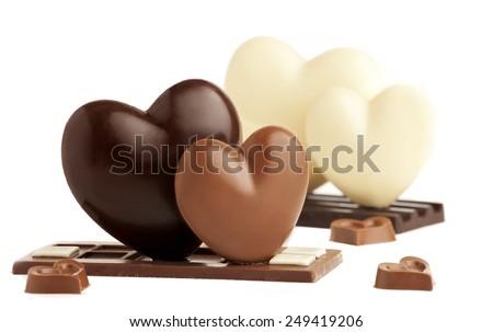 Valentines Day Chocolate Heart - stock photo