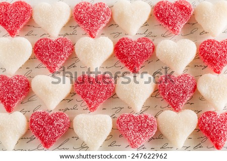 Valentines Day dessert gummy candy love hearts