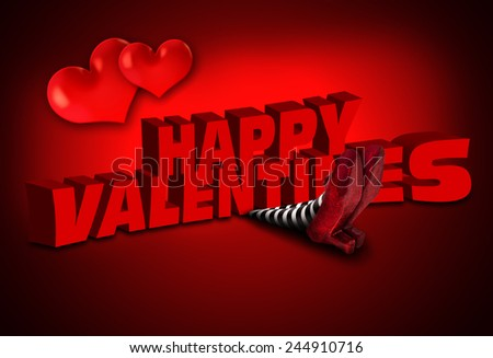 valentines day falling on the wicked witch  - stock photo