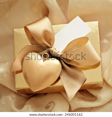 valentines day gift - stock photo
