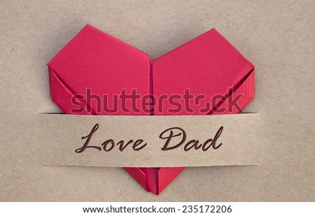 Valentines day postcard, red heart in love banner, I love you, heart, background - stock photo