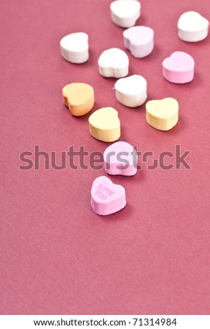 Valentines Heart Candy - stock photo