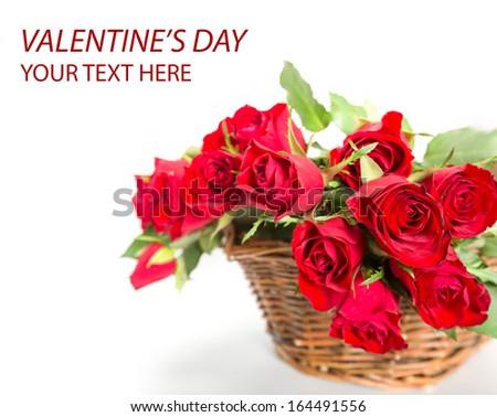 Valentines perfect roses - stock photo