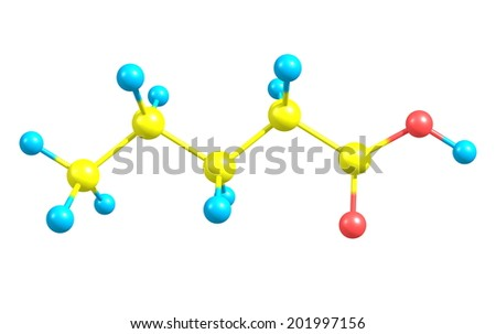 Valeric (pentanoic) acid is a straight-chain alkyl carboxylic acid with the chemical formula C5H10O2. It has a very unpleasant odor.