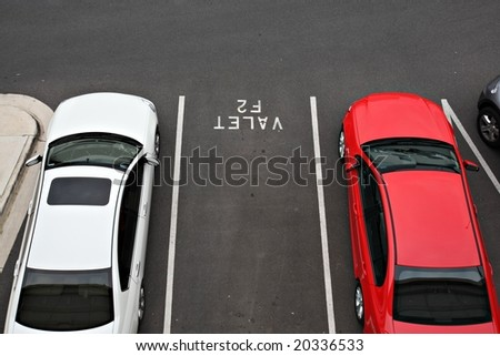 Valet car parking space at airport - stock photo