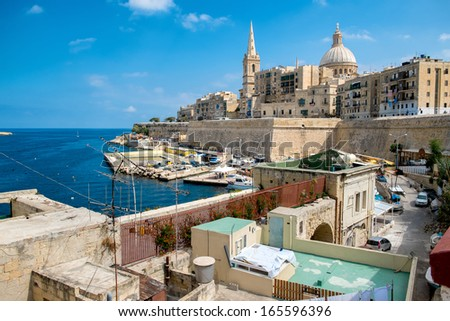 Valetta - the capital of Malta. - stock photo