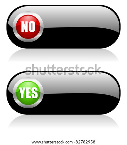validate buttons set - stock photo