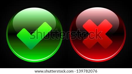 Validation sign on black background - stock photo