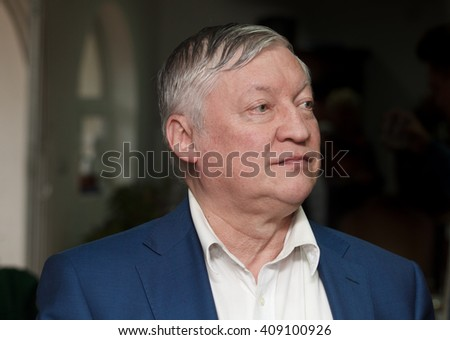 Valjevo, Serbia - February 28. 2016 :  Anatoly Karpov  Russian chess grandmaster and former World Champion during his visit to Serbia