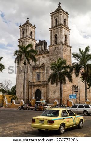 Valladoid, MEXICO - march 28, 2015: Catholic Church At Valladolid, Quintana Roo, Mexico  - stock photo