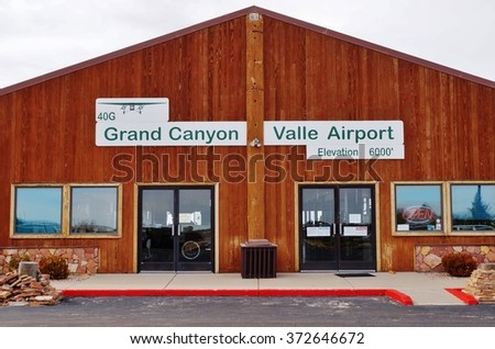 VALLE, AZ -14 FEBRUARY 2014- Grand Canyon Valle Airport (VLE) is a small public airport serving the Grand Canyon. It is home to the Planes of Fame Air Museum.