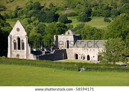Valle Crucis Abbey in North Wales near Llangollen
