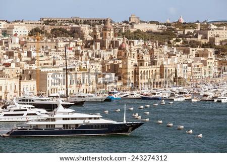Valletta capital of Malta - stock photo
