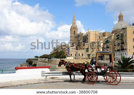 Valletta cityscape - stock photo