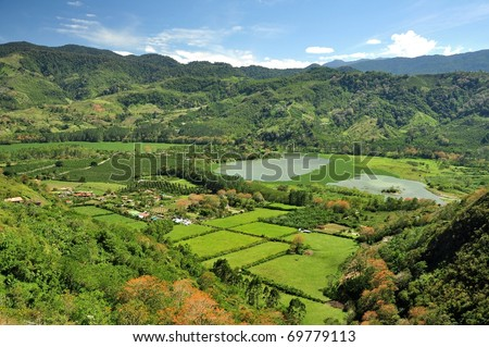 Valley in Costa Rica - stock photo