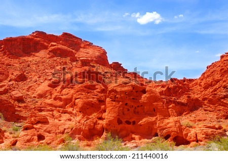 Valley of fire, State park in Nevada - stock photo