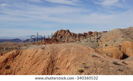 Valley of Fire State Park in Nevada - stock photo