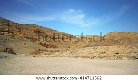 Valley of Kings, in Luxor (Ancient Thebes) west bank, Egypt. - stock photo