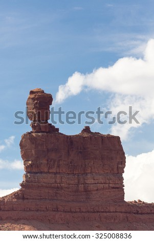 Valley of the Gods near Monument Valley in southwest Utah. - stock photo