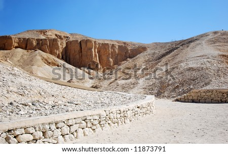 Valley of the kings - tombs of the pharaohs in luxor (ancient Thebes) in Egypt - stock photo