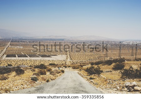 Valley of the Windmills - stock photo