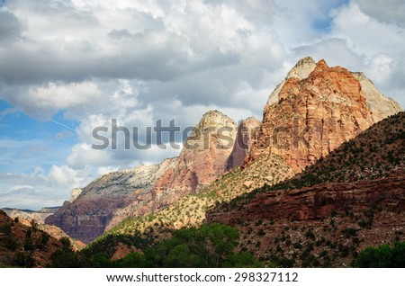 Valley View at Zion National Park - stock photo