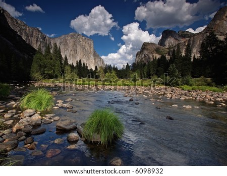Valley View, Yosemite National Park - stock photo