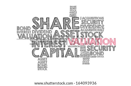 Valuation word cloud - stock photo