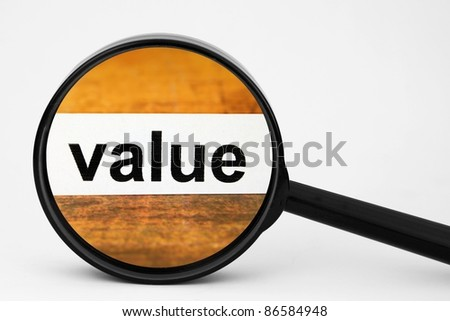 Value - stock photo