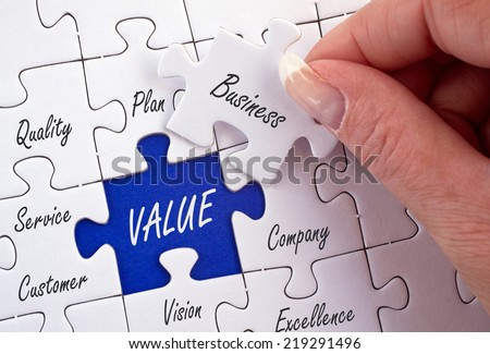 Value - Business Concept - stock photo