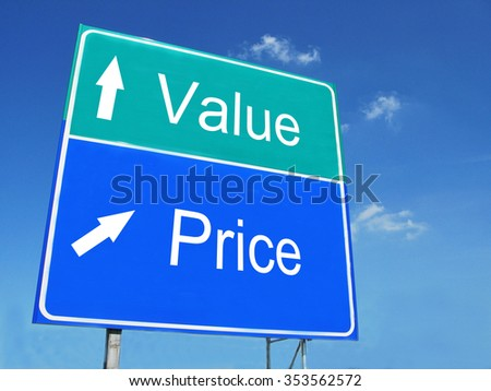 Value-Price road sign