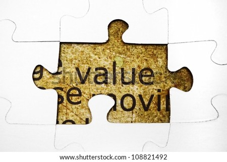 Value puzzle concept - stock photo