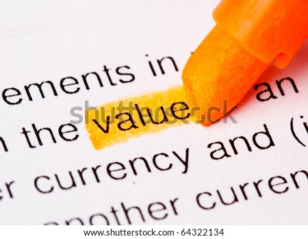 value word - stock photo