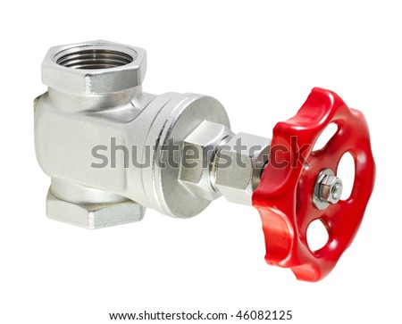 valve is isolated on a white background - stock photo
