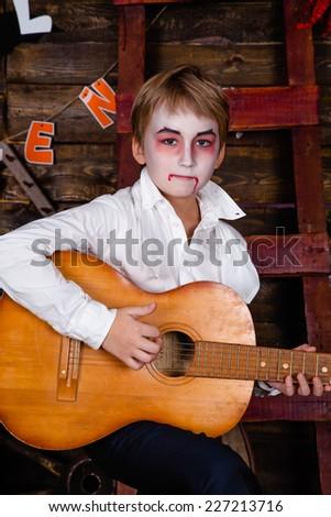 Vampire for Halloween - stock photo