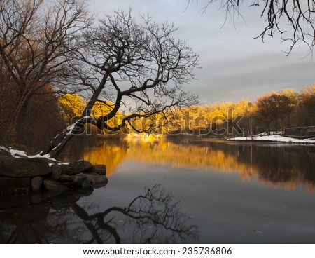 Van Cortlandt park in the County of the Bronx, New York. - stock photo