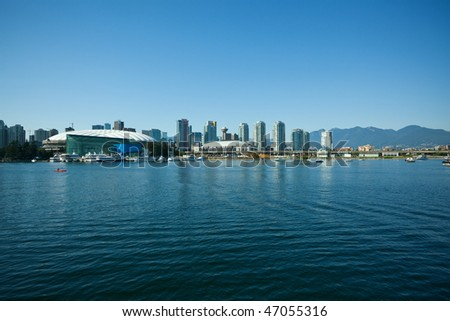 Vancouver BC city skyline, Canada