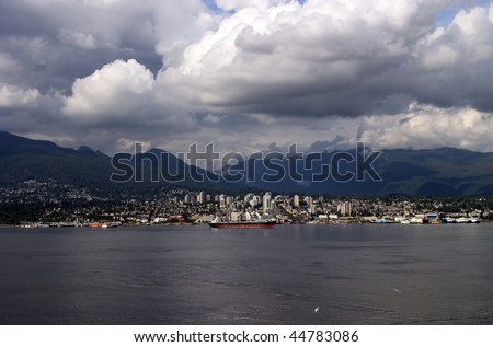 Vancouver British Columbia Home of the 2010 Winter Olympics - stock photo