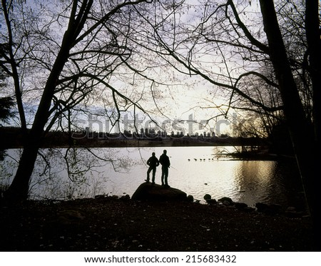 Vancouver, Burnaby and Deer Lake, British Columbia, Canada - stock photo
