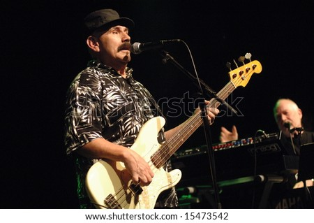 "Vancouver, Canada, 27 June 2008: Roy Estrada, guitarist/vocalist of ""The Grande Mothers"" band, performs during band's concert in Vancouver"